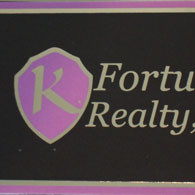 K Fortuna Realty Foil Business Cards