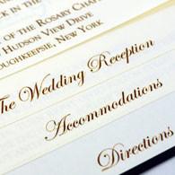 Staggered Flip Sheet Wedding Invite
