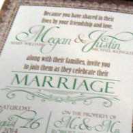 Klinger Wedding Invitation